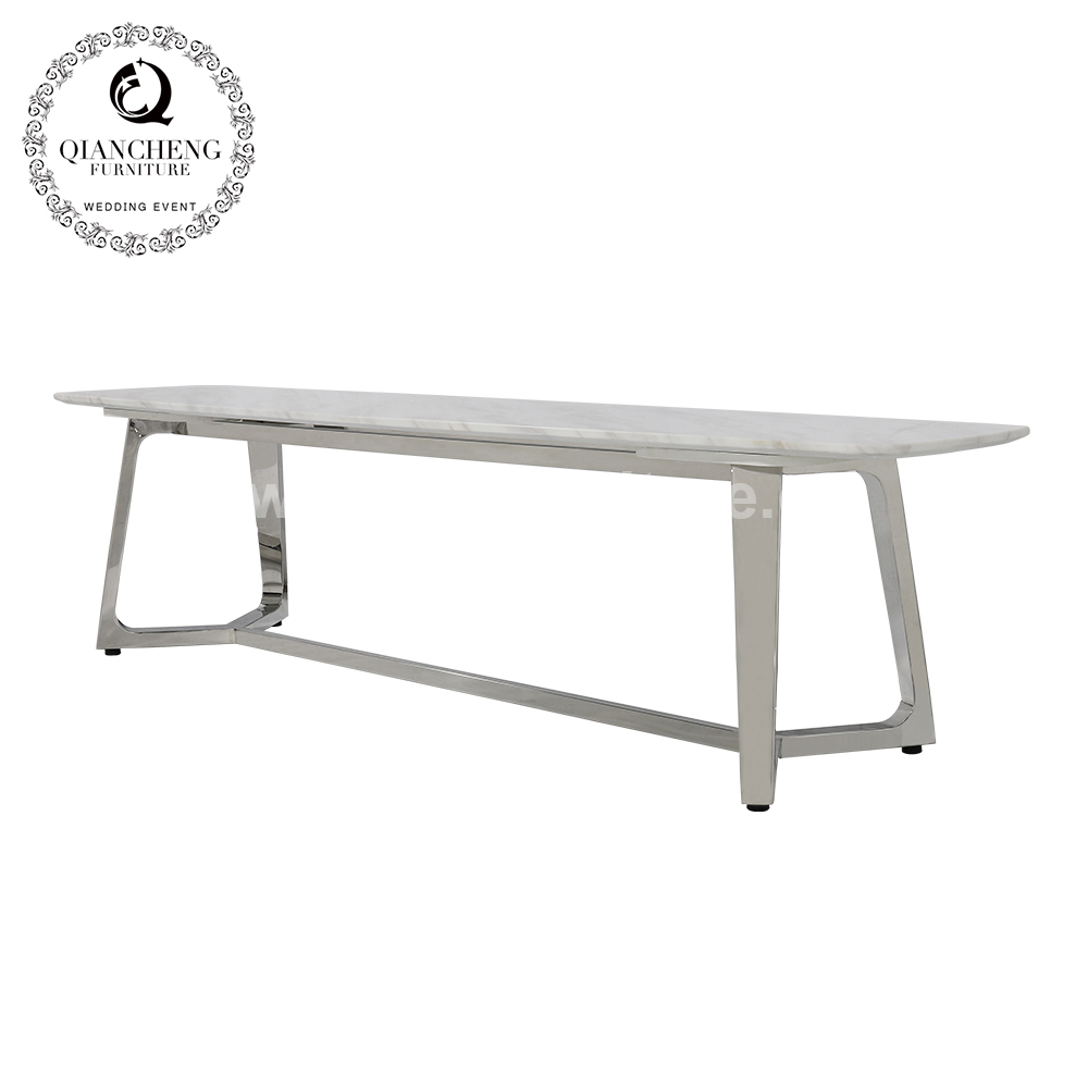 simple marble top stainless steel TV Stand 1662#