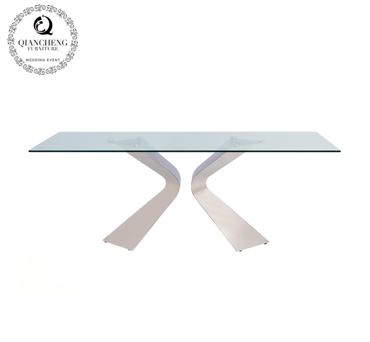 12mm thick tempered glass dining table 1081#