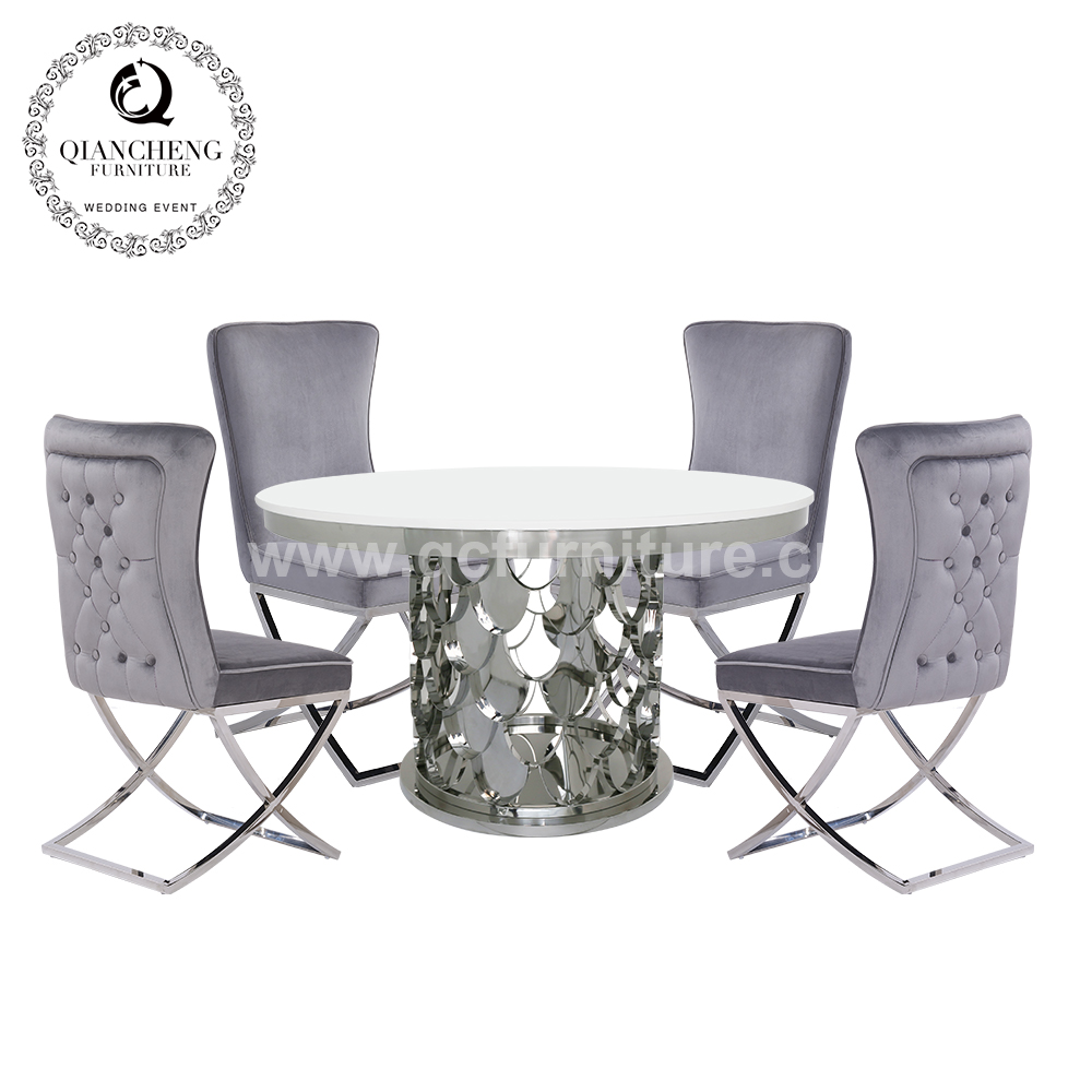 6 seater luxury marble round dining table china 1733#