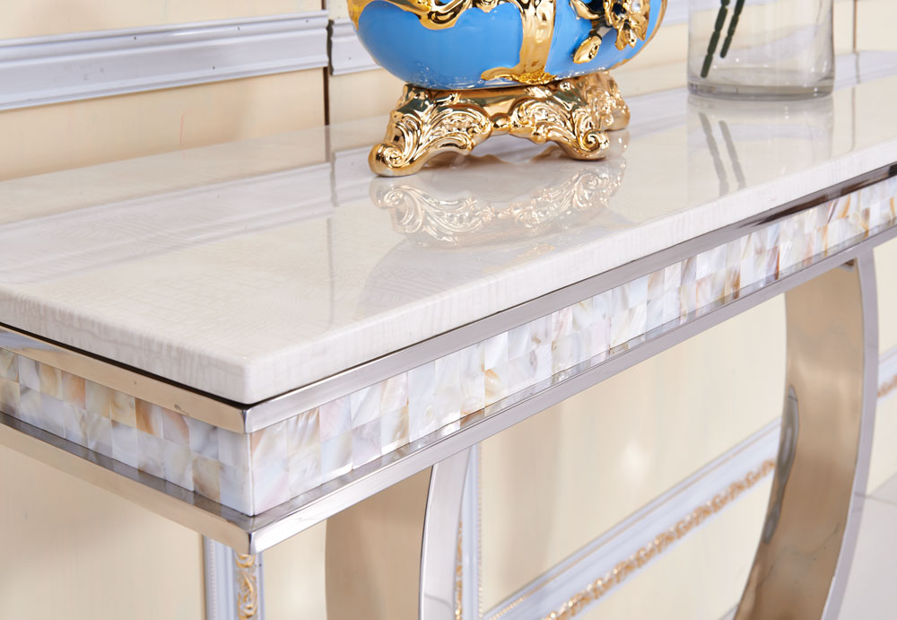 Italian style luxury hotel white marble console table 952#
