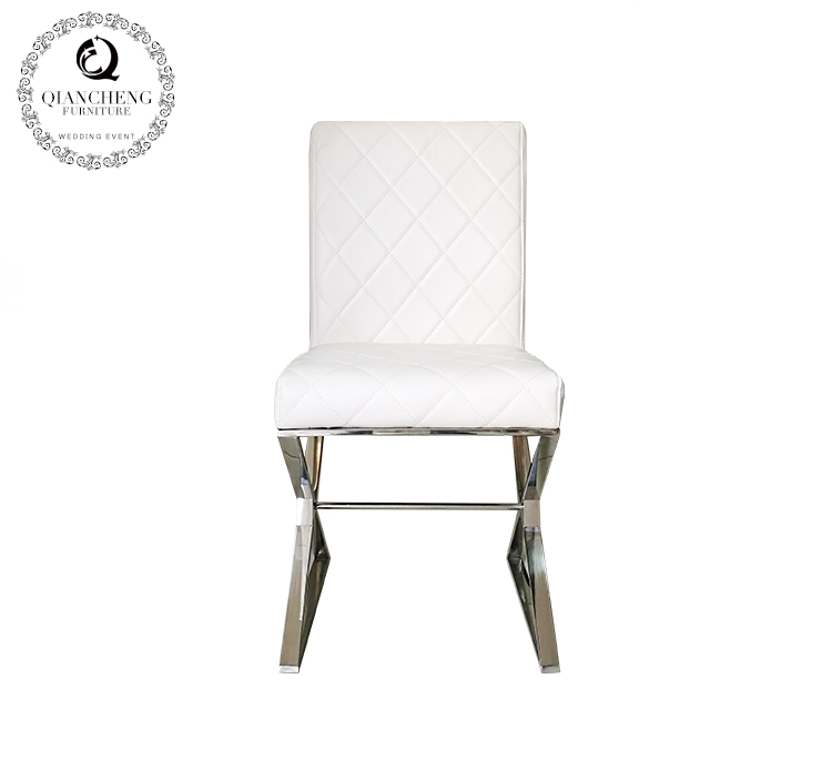stainless steel modern dining metal chair white C223#