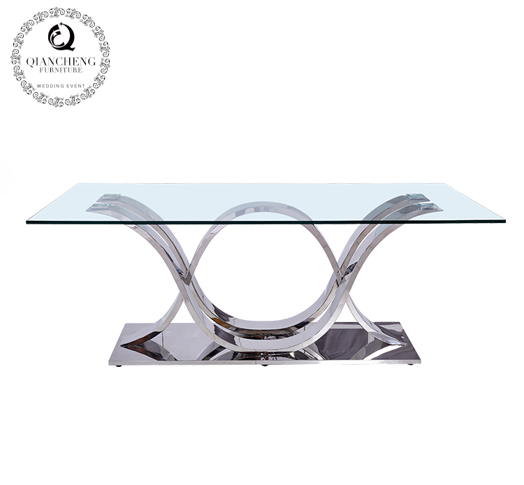 Hot sale glass top dining table 960#
