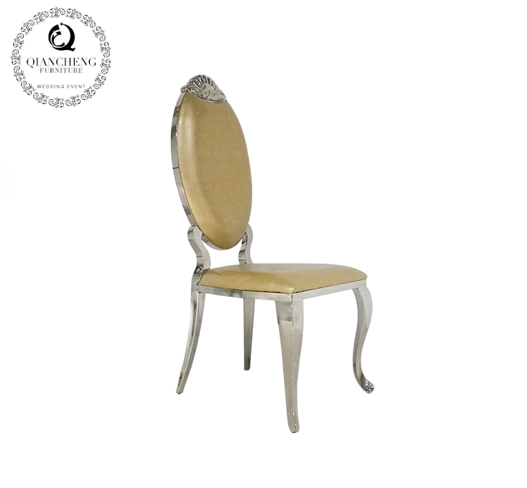 Wedding furniture golden stainless steel dining chair C281 #