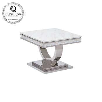 Metal movable marble top side table 952#