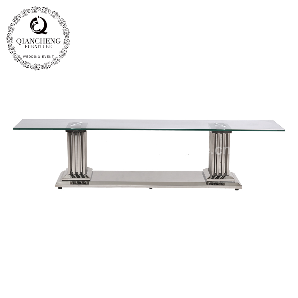 Tempered Glass Simple Design Chinese TV Stand 1058#
