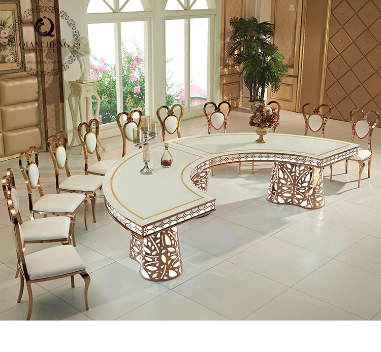 Wedding table with 7 color led lights inside 987#