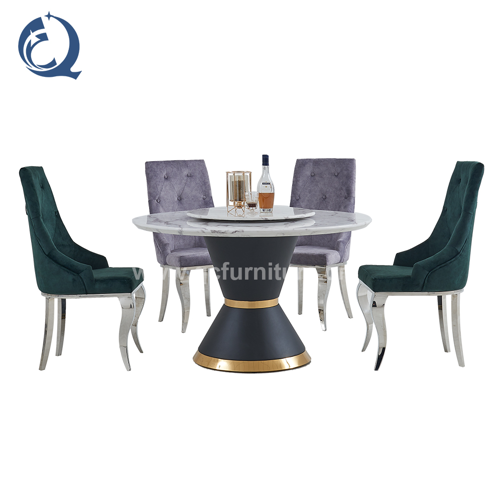 luxury restaurant stainless steel chairs legs modern metal dining table chairs C301#