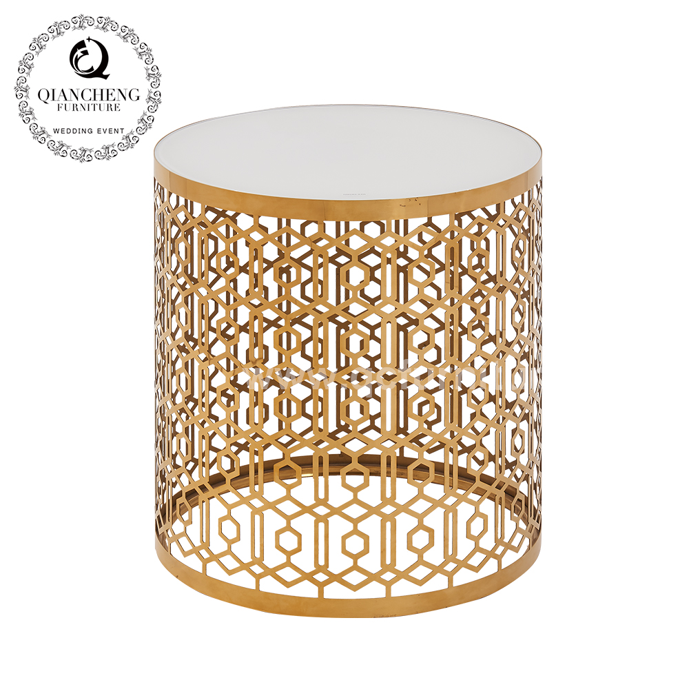 Living Room Golden Small Side Table 1660#