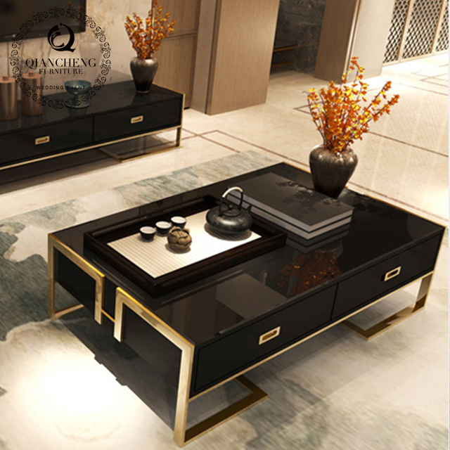 simple design coffee table with drawer  1097#