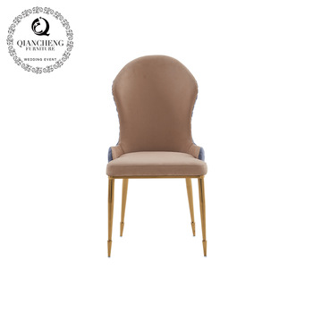 fashion design hotel stainless steel gold dining chairs C302#
