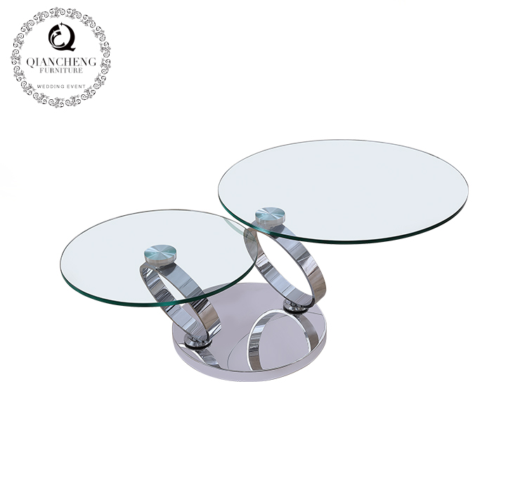 Modern design function glass coffee table 857#