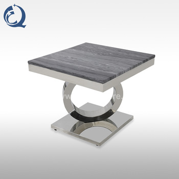 grey marble stainless steel side table tea table 980#