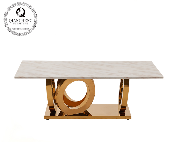 golden circle marble top coffee table  980#