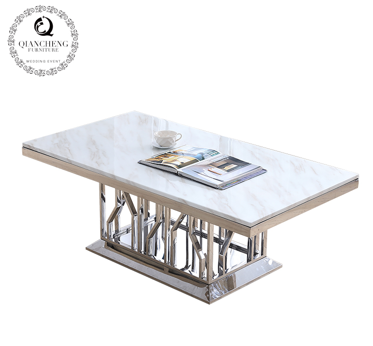 modern white marble top coffee table design 965#