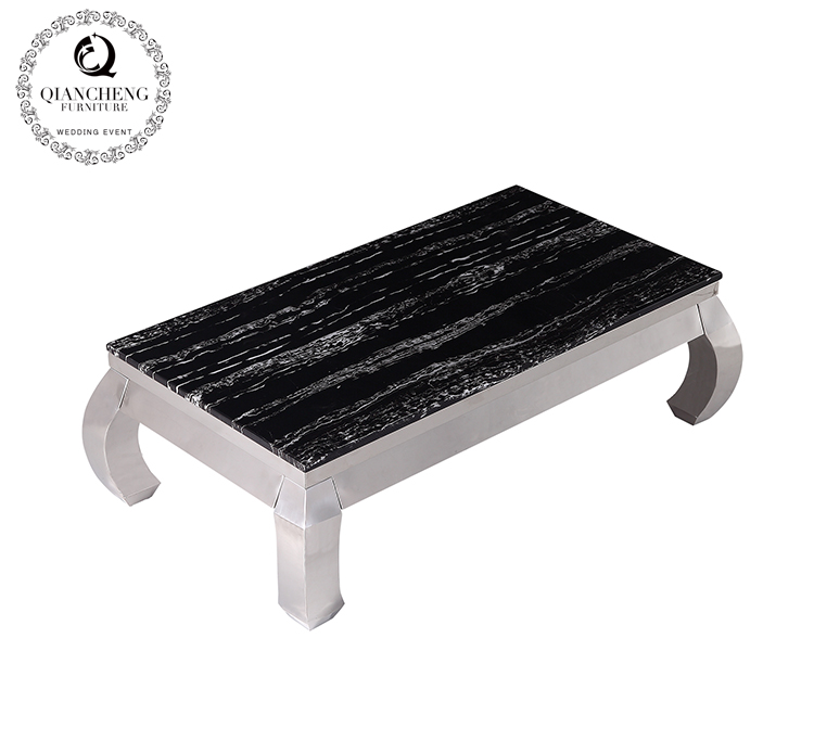 simple marble top living room coffee table set #816