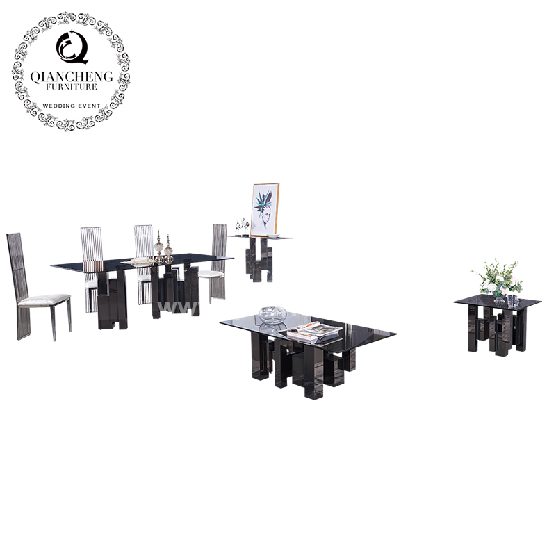 New Arrival Black Stainless Steel Side Table 1633#