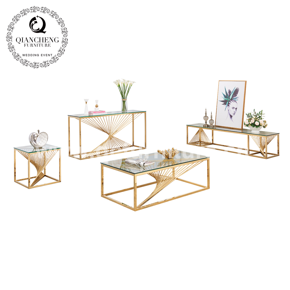 New Design Golden Sofa Table 1619#