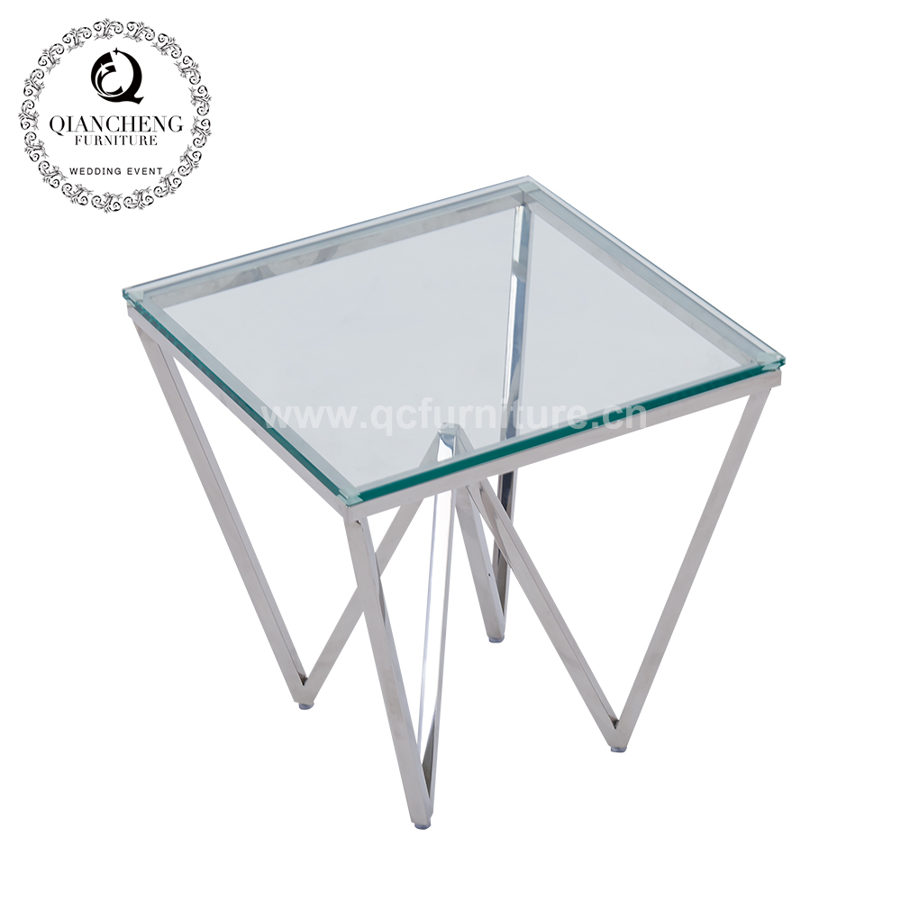 Modern Living Room Furniture Glass Top Side Table 1008#