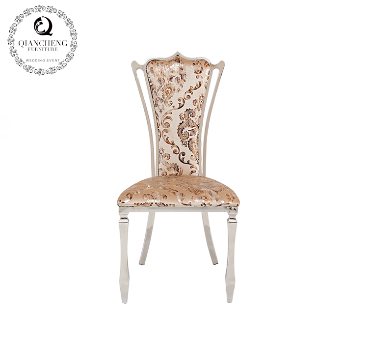 Elegant modern stainless steel dining chair french style  C115#