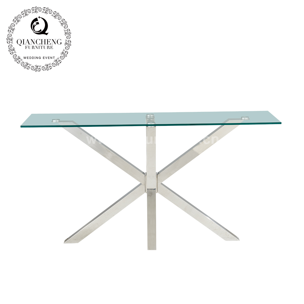 Modern glass console table living room furniture 1698#
