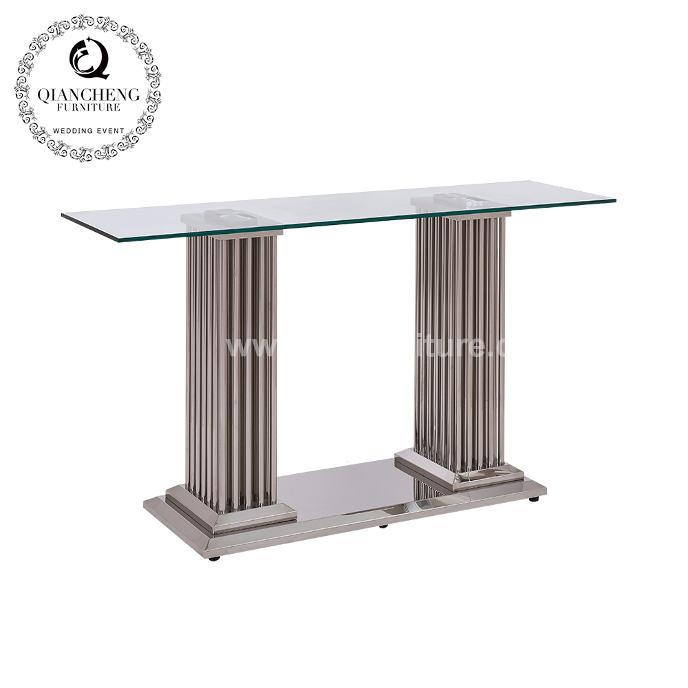 Metal base glass console table modern wholesale 1058#